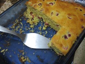 cranberry cornbread leftovers