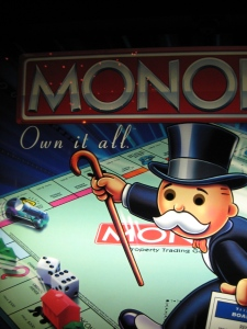 Monopoly Man staring with his cold, dead eyes